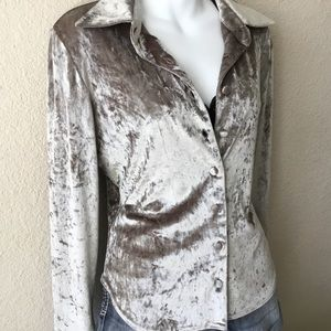 Vintage bebe San Francisco Velvet Button Up Blouse